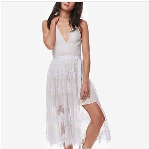 Free People Lace Midi Dress
